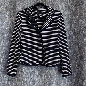 Navy and White Stripe Blazer